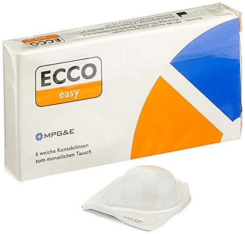 ECCO easy AS Monatslinsen weich, 6 Stück / BC 8.70 mm / DIA 14.40 mm / -2.25 Dioptrien
