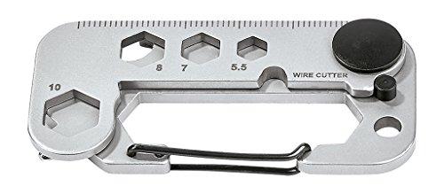Moses Expedition Natur Multi-Tool   15 in 1 Multifunktionswerkzeug   Für Camping und Outdoor Werkzeug, Silber, n.V.