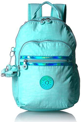 Kipling Unisex-Erwachsene Seoul Go Small, Padded, Adjustable Backpack Straps, Zip Closure Rucksack, Fresh Teal, Einheitsgröße (Nike Rucksack Teal)
