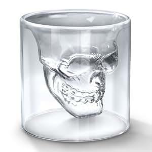 **DOOMED** N.2 CRYSTAL SKULL SHOT GLASSES - N.2 BICCHIERI TESCHIO VETRO