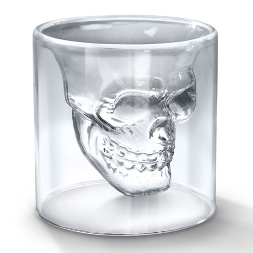 **DOOMED** N.2 CRYSTAL SKULL SHOT GLASSES - N.2 BICCHIERI TESCHIO VETRO