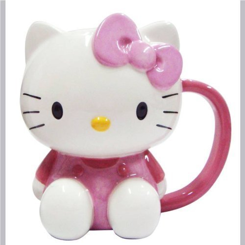 GGS Hello Kitty - Taza, diseño tridimensional de Hello Kitty