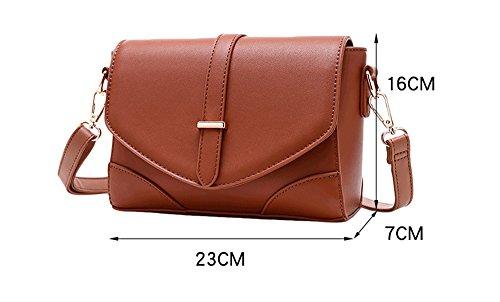 Piccolo pacchetto, versione coreana dello zaino obliquo selvatico, borse, borsa a tracolla semplice, borsa a quadretti dell'atmosfera ( Colore : Nero ) Grigio