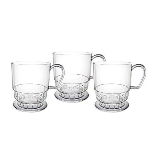 Party Essentials Deluxe/Elegance Kaffeetassen, Kunststoff, 227 ml, Weiß, 10 Stück 10-Count farblos Deluxe Travel Mug