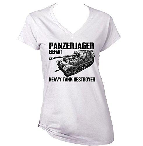 teesquare1st Panzerjager Elefant Camiseta para Mujer de Algodon Size Xxlarge