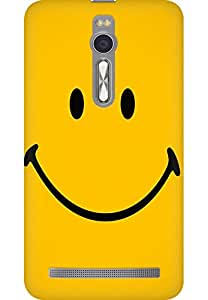 AMEZ designer printed 3d premium high quality back case cover for Asus Zenfone 2 (yellow wide smile )