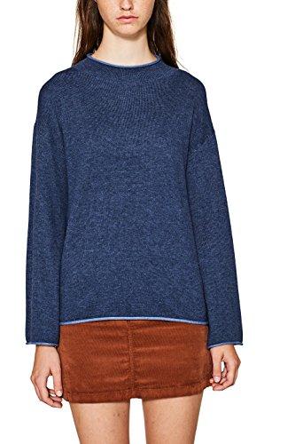 edc by ESPRIT Damen 097CC1I012 Pullover, Blau (Grey Blue 420), Medium