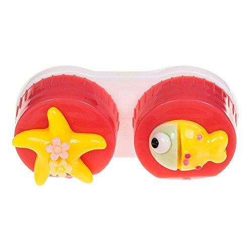 Coloured Contacts Fisch Kontaktlinsenbehälter (Dunkles Pink)