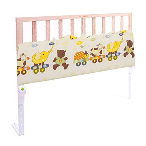 Bettgitter Bettschutzgitter 1,2 m Holz Kleinkind Bett Schiene für Queen-Size-Bett Twin XL Rosa Einstellbare Swing Down Geländer für Mädchen Kinder (Farbe : Style-2) - Weiße Holz-twin-size-bett