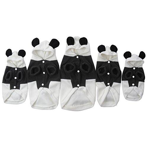 ostüm Cartoon Panda Cosplay Lion Hunde Bekleidung Welpen Katze Mantel Kleidung Jumpsuit schwarz-weiss XS/S/M/L/XL (Welpen-halloween-kostüme)
