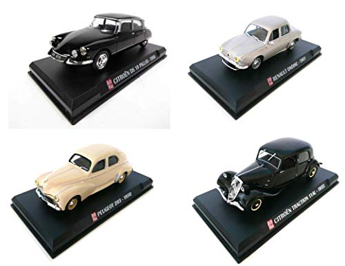 Générique Lot de 4 Voitures Renault et Citroen : DS Ondine 203 Traction / ECHELLE 1/43 Collection
