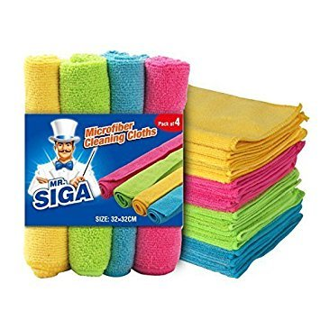 MR. SIGA Microfiber Cleaning Cloths, Size: 32 x 32cm - by MR. SIGA