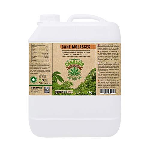 NortemBio Agro Melaza de Caña Natural 7 Kg. Especial para Cultivos de Cannabis y Marihuana. Mejora su Crecimiento y Floración. No Sulfurada. Producto CE