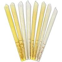 Preisvergleich für WillMall Bienenwachs Candle Cones 8 Pack -100% natürliche Bienenwachs Kerze Lower Smoke Cones vs Paraffin Zylinder...