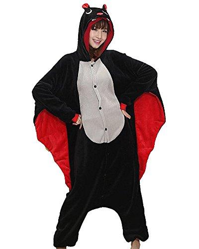 Imagen de pijamas de animales carnaval disfraz cosplay animal pijama adultos unisex ropa de noche murciélago l