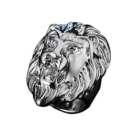 UINGKID Schmuck Ring Löwe-Kopf der Weinlese-Edelstahlringe der Männer Schwermetallrock-Art