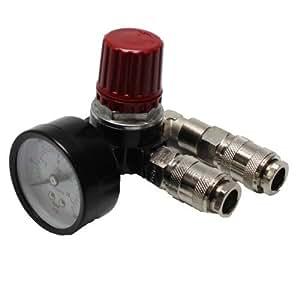 'Réducteur de Pression 1x 1/4IG avec 2prises pour compresseur