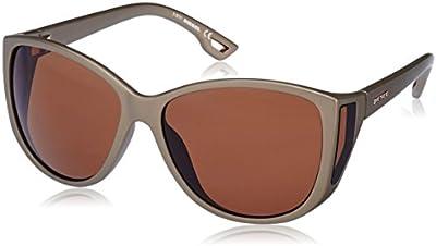 Diesel - Gafas de sol Wayfarer DL0005, Semi Shiny Kakki / Gradient Brown