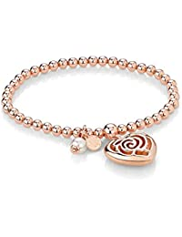 Nomination Damen-Armband Messing teilvergoldet Perle weiß 19 cm-131400/011