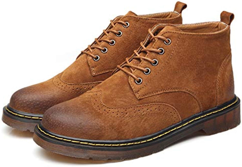 YC Uomo Uomo Uomo Genuine Leather Cowboy Stivali in Pizzo Up Stivaletti Lavoro Occasionale Martin Calza Gli Stivali Campeggio... | Elegante Nello Stile  161a46