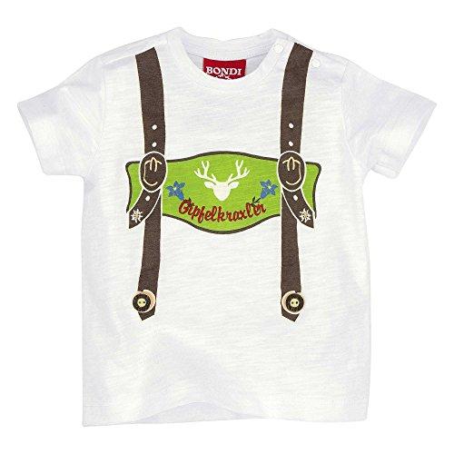 BONDI Shirt ´Gipfelkraxler´, Weiss 80 Tracht Baby Jungs Artikel-Nr.91005
