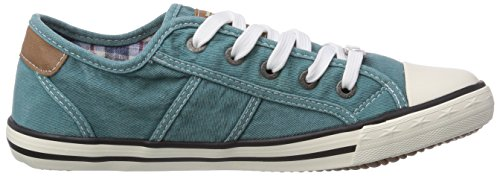 Mustang 1099302 0, Baskets mode femme Turquoise (760 Smaragd)