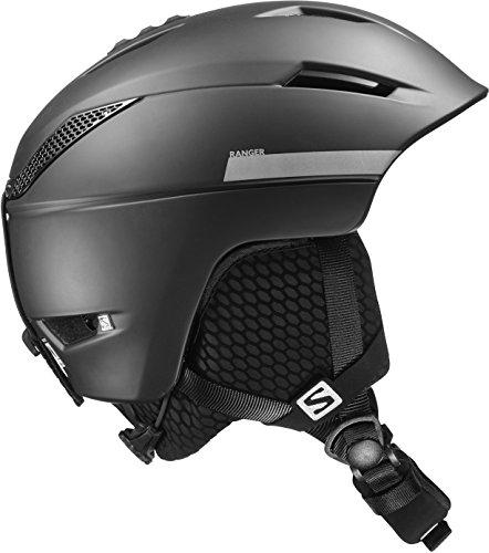 Salomon Herren Ranger² Ski- und Snowboardhelm, für die Piste, EPS 4D-Innenschaum, Kopfumfang 53-56 cm, schwarz, Größe S, L39124900