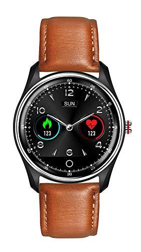 KKMRSL Smart Watch,Intelligente Uhr Mit EKG PPG HRV Herzfrequenzmesser, Fitness Tracker Mit 8 Sportarten Blutdruck-Sauerstoff-1.22Inch Touch Screen Smart-Armband Fr Mnner
