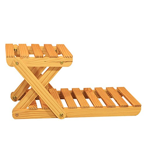 MEILING Bureau Étagère à bois en bois massif Mini entrepôt Étagère en étagère Ensemble de petites plantes à petite carré * 3 pour un groupe (Couleur : Blanc)