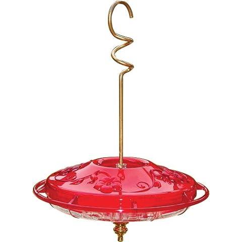 Aspetti Hummzinger Fancy 12 OZ. Di colore rosso e una facile pulizia e riempimento meraviglioso per qualsiasi cortile - Fancy Dome
