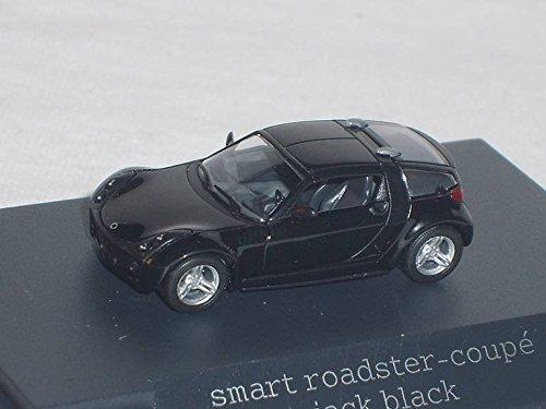Smart-Roadster-Coupe-Schwarz-Ho-H0-187-Busch-Modellauto-Modell-Auto-SondeRangebot
