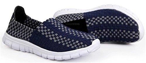 DADAWEN Chaussures de Course pour Mixte Adulte bleu foncé