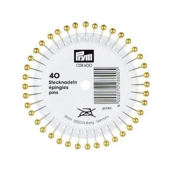 Prym Perlkopfstecknadeln silber 40 Stück Nadeln 40 x 0,58 mm Stecknadeln 028601
