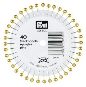 Prym 0,58 x 40 mm Pearl-Headed Pins, 40 Stück, Gold
