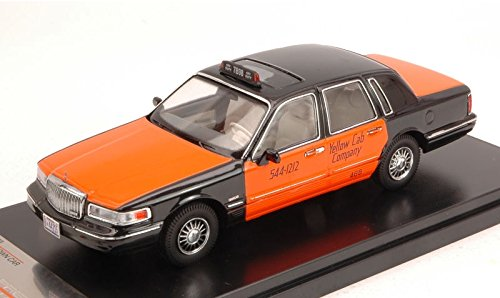 lincoln-town-car-1996-usa-taxi-orange-black-143-premiumx-taxi-modello-modellino-die-cast