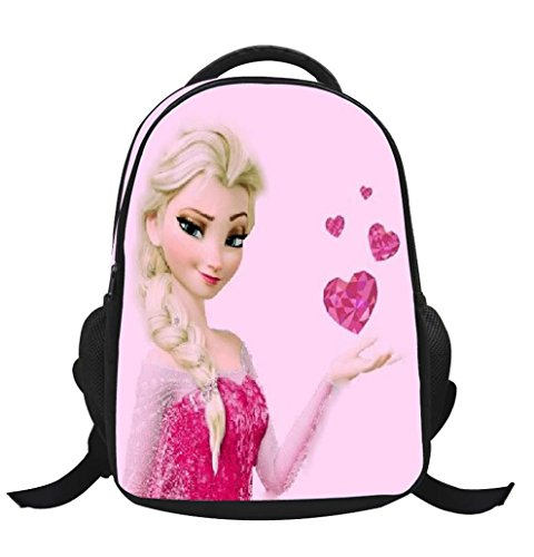 Missfox zainetto asilo ragazze zaino frozen principesse anna e elsa e olaf backpack school bag a14