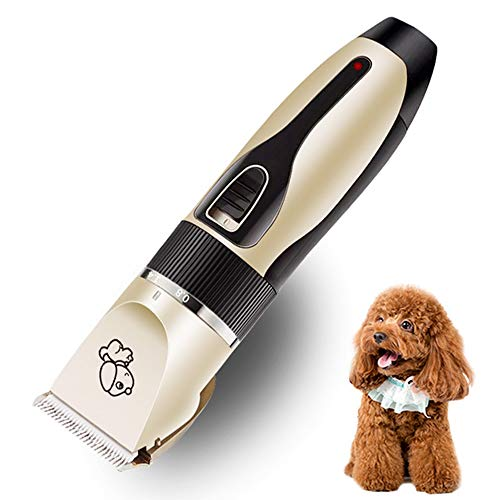 YSY Professional Dog Grooming Kit-Washable Rechargeable Ceramic Cutter Head Does Not Card Hair Does Not Hurt The Skin Professional Pet Grooming Hair Clipper (Rasieren der Haarhaare)