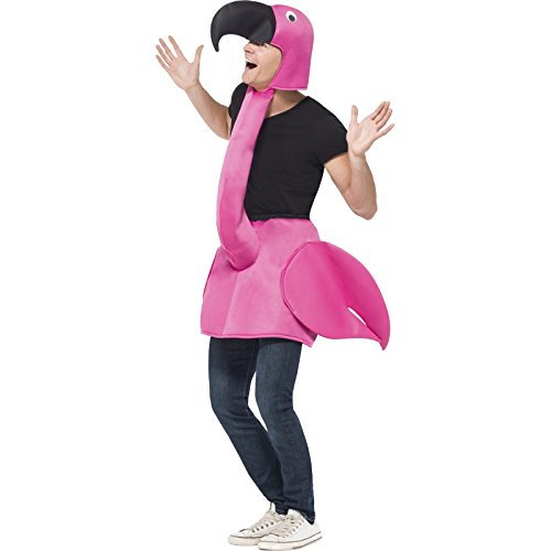 Smiffys flamingo costume unisex adulto, taglia unica