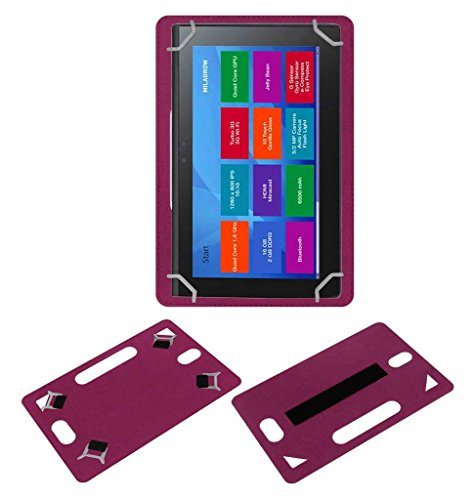 Acm Leather Back Hand Case for Milagrow M8 Pro Tablet Cover Pink  available at amazon for Rs.449