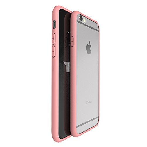 iMounTop Hülle iPhone 6 Plus Hülle 6S Plus Hülle TPU Rahmen + Hart PC Zurück Backcover Kombination Hochtransparent Nie verfärben Schutzhülle Tasche Schale Kratzfeste Handytasche für Apple iPhone 6 Plus / 6S Plus (5.5 Zoll) (Rosa)