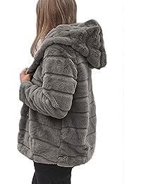 Beikoard_Ropa de mujer,Chaquetas de visón para Mujer Abrigo de Invierno Nueva Chaqueta de Piel