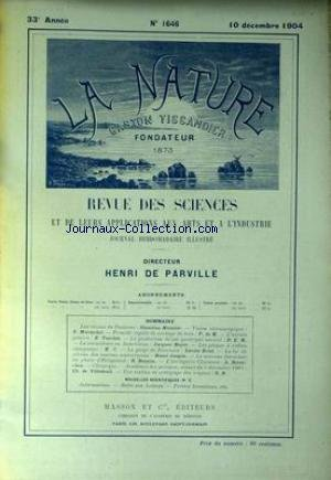 NATURE (LA) [No 1646] du 10/12/1904 - LES RAVINS DE