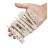 Meetlight Pinces à cheveux en perles artificielles pour cheveux Barrettes de mariée en métal pour mariage Accessoires cheveux pour femme