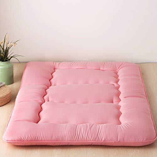 *LYBFNN Japanisch-Stil Folding Futon Tatami Bodenmatratze,Single Double 10cm Verdicken sie Matratze Für Home Indoor Outdoor Odenmatratze nti-rutsch Schlafenden Kissen Faltbare Matratze,Pink,90x200cm*