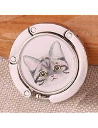 Alcoa Prime Portable Folding Cat Folding Handbag Purse Tote Bag Holder DIY Table Hook #4