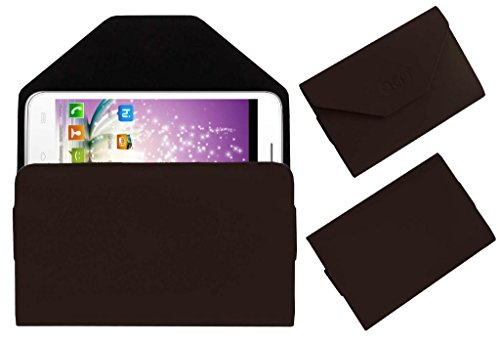 Acm Premium Pouch Case For Micromax Canvas Blaze Mt500 Mts Flip Flap Cover Holder Brown  available at amazon for Rs.179
