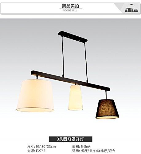 Osradmd Restaurant Beleuchtung, amerikanische Landschaft, eine moderne, minimalistische Studie, Creative Bar, Esszimmer Lampe, Nordic Schlafzimmer Kronleuchter, Bügeleisen 3 runde Kappe - Moderne Landschaft Beleuchtung