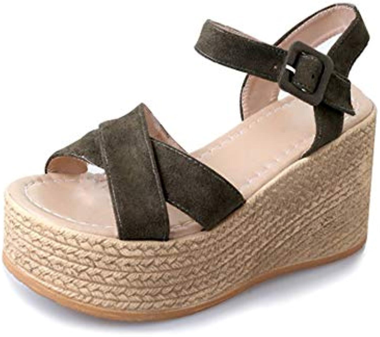 la fma sandales mesdames été coins sauvages talons bas rome pa épais des chaussures de femmes b07g5rvs8t pa rome rent a03782