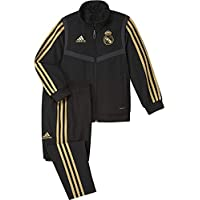 adidas Real Madrid Presentation Tracksuit Kids Unisex Niños, Negro (Black/Dark Football Gold), 116 (5/6 años)