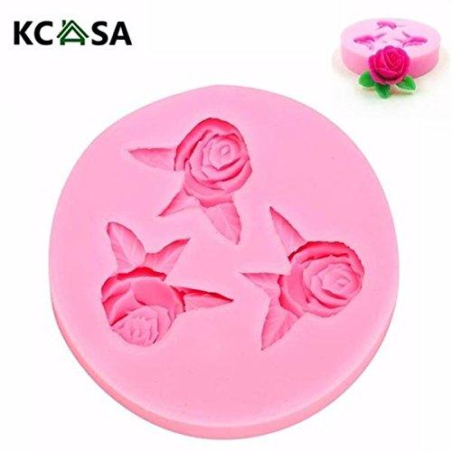 Calli Kcasa feuillue rose moule à cake Fondant biscuit outil moule décoration de silicone